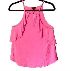 NWT Pink Ruffle Cami (Express, M)
